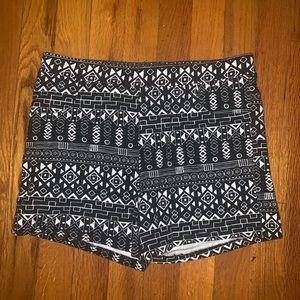 Black and White Hot Shorts